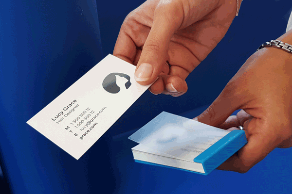 EZ-pack your business cards
