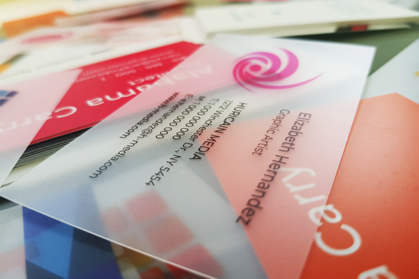 Showoff your PVC business cards