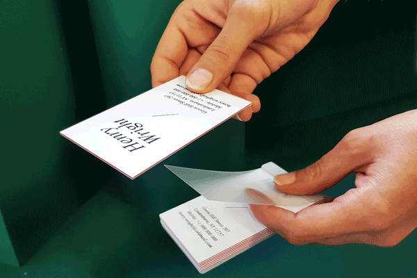 EZ-pack your Trio business cards